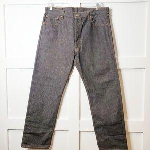 Men's 501 Dark Wash Stiff Denim Jeans 38 x 32